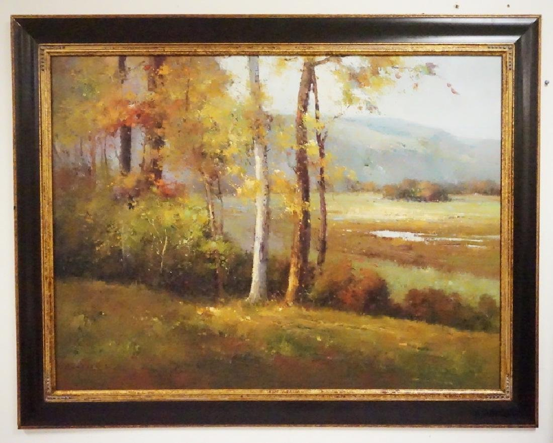 OIL PAINTING OF A LANDSCAPE.