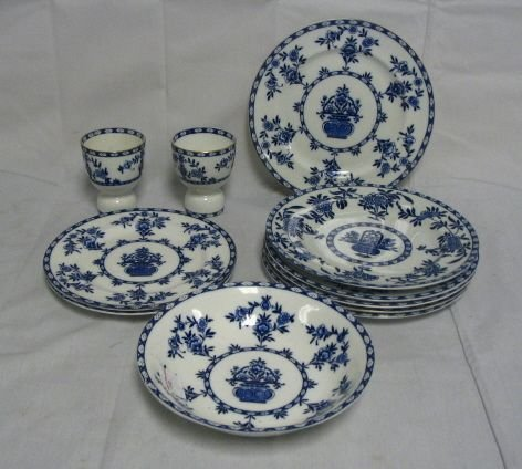 103: BLUE DECORATED ROYAL DOULTON
