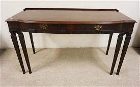 MAHOGANY 2 DRAWER CONSOLE TABLE CHIPPENDALE STYLE
