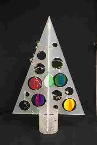 MID CENTURY MODERN LUCITE / ACRYLIC CHRISTMAS TREE WITH