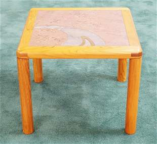 HASLEV DANISH MODERN TILE TOP COFFEE TABLE. 24 INCHES