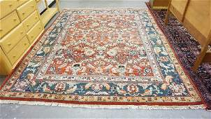 ROOM SIZE HAND WOVEN WOOL ORIENTAL RUG MEASURING 7 FT