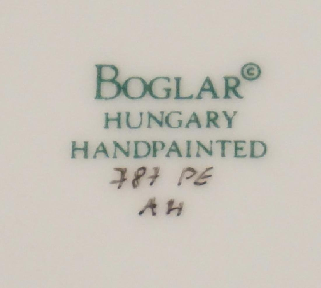 BOGLAR HAND PAINTED PORCELAIN LEAF SHAPED DISH - 2
