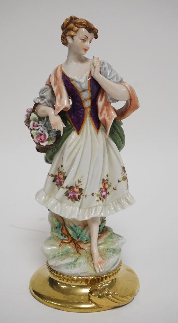ITALIAN PORCELAIN FIGURE. MARKED ON THE BOTTOM *C.