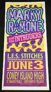 MARKY RAMONE AND THE INTRUDERS CONCERT POSTER.