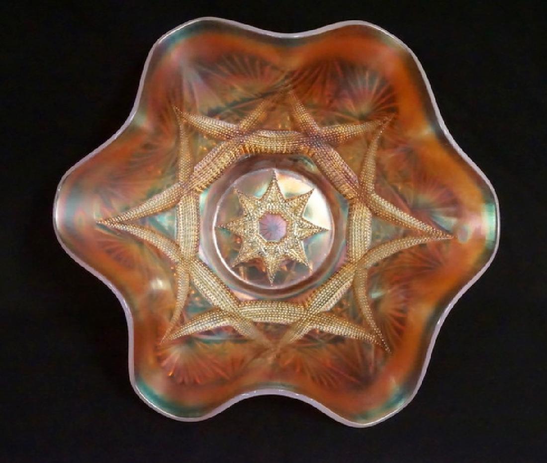DUGAN SKI STAR CARNIVAL GLASS