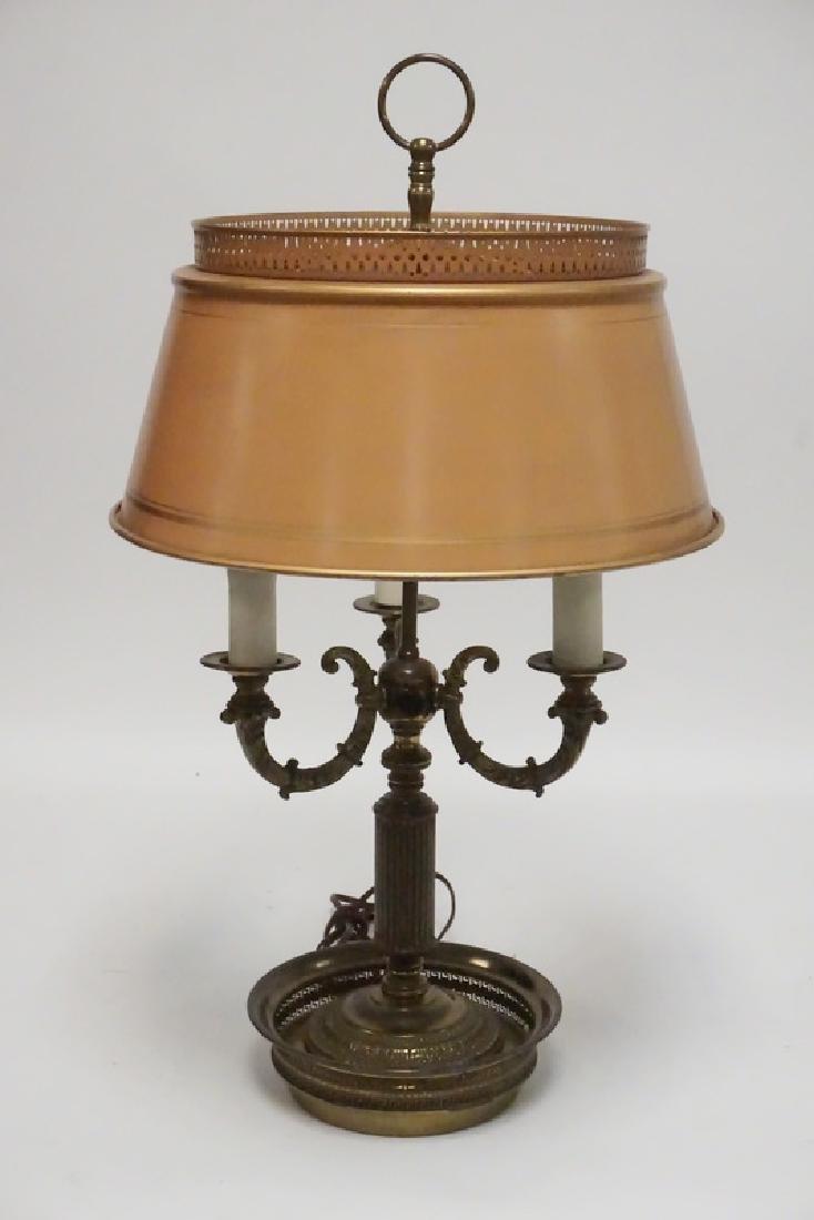 BRASS BOUILLOTTE STYLE LAMP