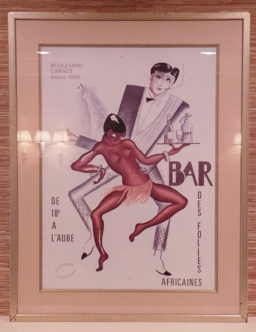 BOULEVARD CARNOT DEPUIS 1926 BAR DE FOLIES POSTER.