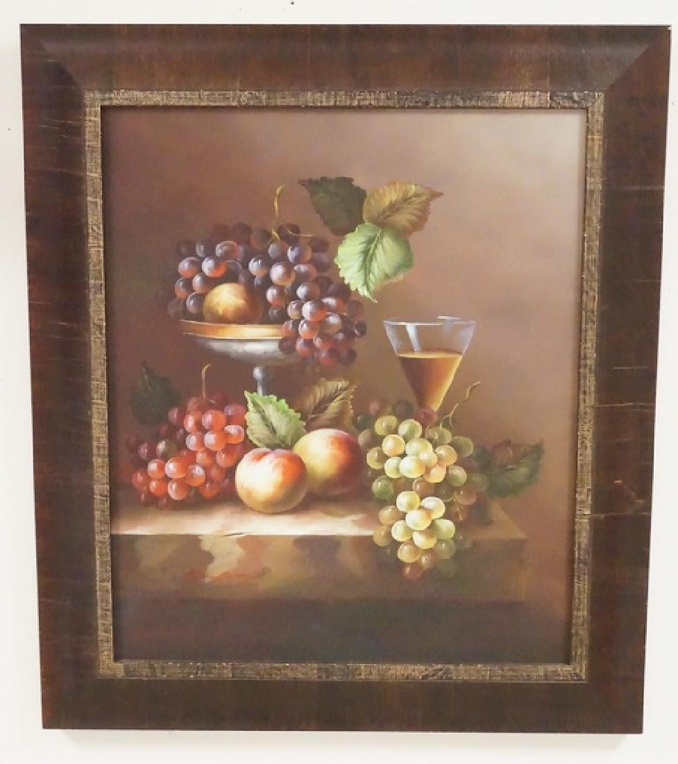 CONTEMPORARY STILL LIFE OIL PAINTING ON CANVAS. SIGNED