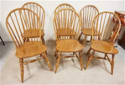 6 ETHAN ALEN WINDSOR CHAIRS