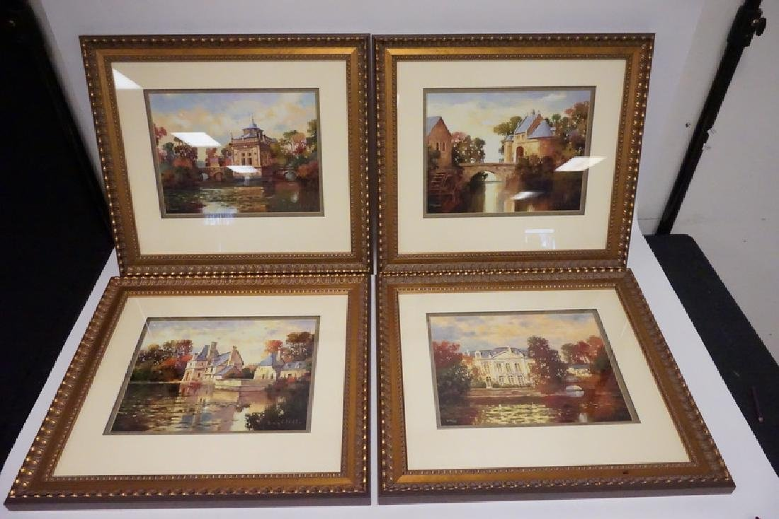 LOT OF 4 ARTIST PROOF GICLEE PRINTS IN MATHCING FRAMES.