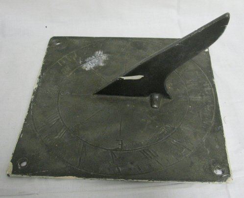 7: PEWTER SUNDIAL SIGNED W.B.; MARKED FECIT 1744
