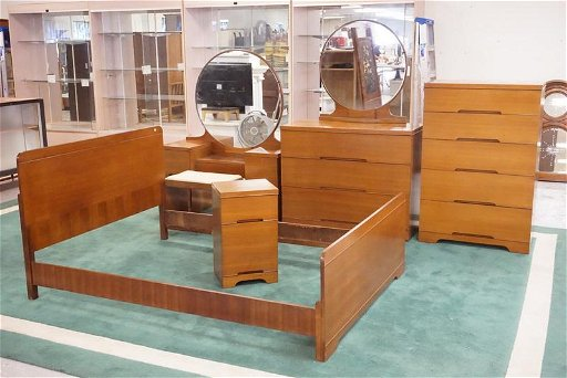 Mid Century Modern Bedroom Set Oct 11 2019 Dennis Auction Service Inc In Nj,Small Back Porch Ideas