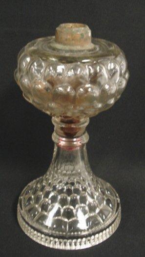 2001: PATTERN GLASS KEROSENE LAMP