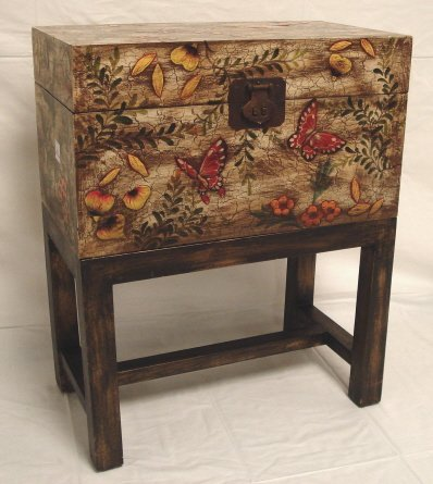 2010: DECORATED CHEST ON STAND