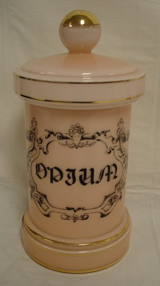 2015: APOTHECARY JAR, CASED PINK GLASS
