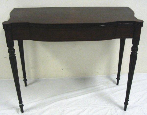 229: MAHOGANY MASS GAME TABLE, CIRCA 1800; INLAID BOW F