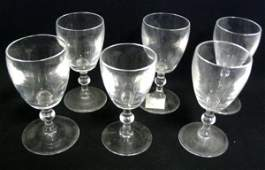 493 7 PC STEUBEN CRYSTAL STEMWARE 4 58 IN H SIGNED