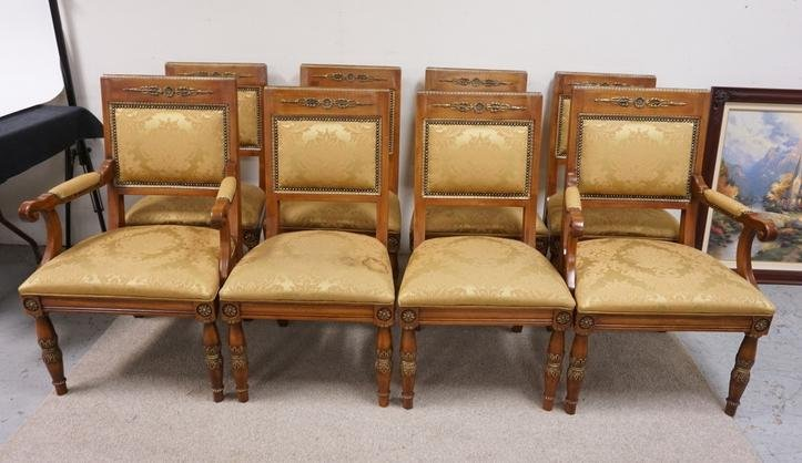 SET OF 8 HENREDON DINING CHAIRS