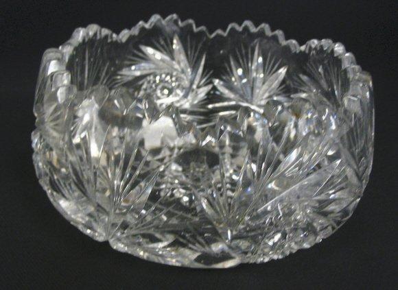 1005: CUT GLASS BOWL