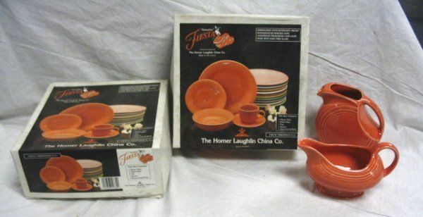 1001: FIESTA LOT; PERSIMMON; TWO  5 PC PLACE SETTINGS I
