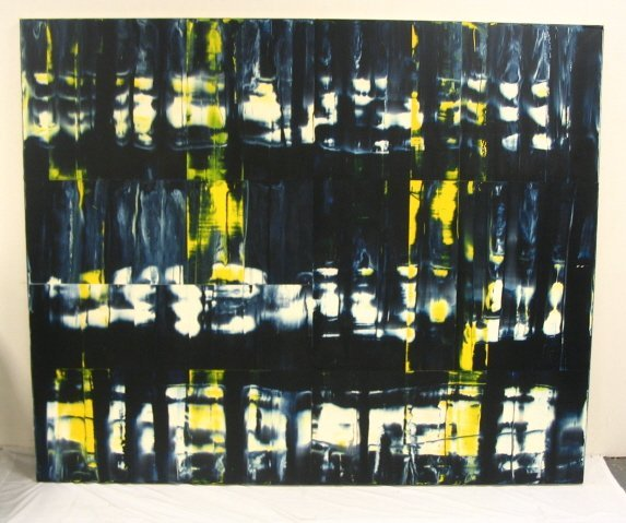 2160A: ALKYD ON CANVAS BY STEPHEN ELLIS, UNTITLED, 1994