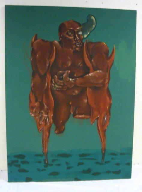 2210A: OIL ON CANVAS BY JORGE TACLA, *YO NO NACI ASI*