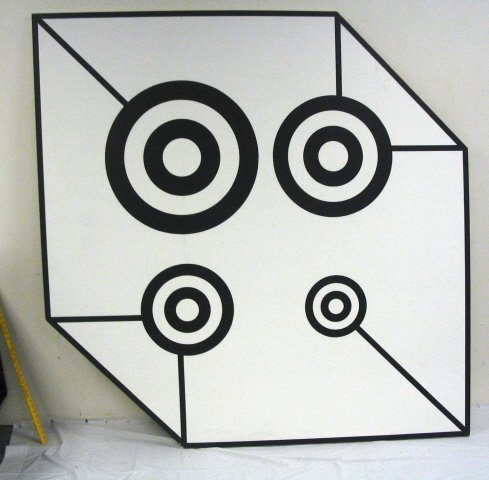 2210C: OPTIC PAINTING ON CANVAS BY M.HOCHMAN, 1964
