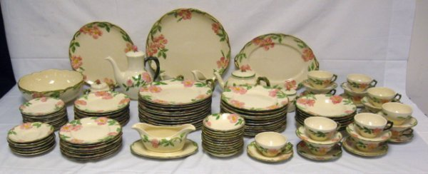 12: 112 PC SET OF FRANCISCAN DESERT ROSE; INCLUDES 3 PC