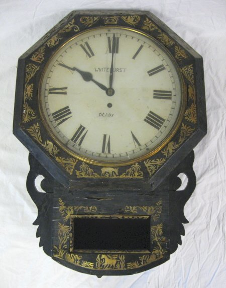 2017: CLOCK; WHITE HURST, DERBY MOTHER OF PEARL MOUNTED