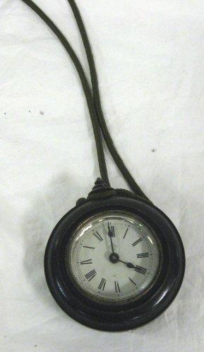 2022: CLOCK; ANSONIA DIMINUTIVE CIRCULAR CLOCK, 3 1/4 I
