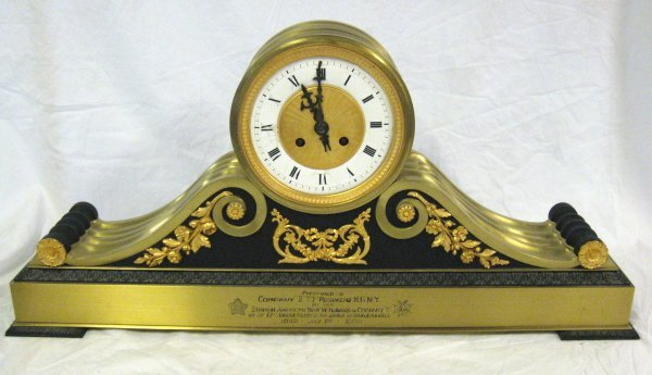 2093: CLOCK; PRESENTED TO COMPANY II 71ST REGIMENT N.G.
