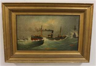 A HARWOOD SHIP PAINTING 1913