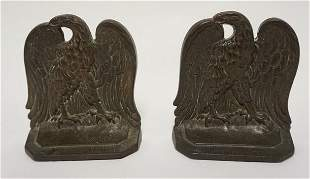 CAST IRON AMERICAN EAGLE BOOKENDS