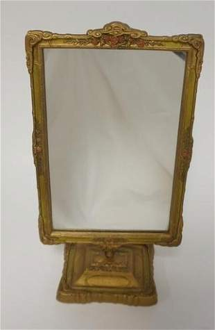 CAST IRON GILT & PAINT DRESSER MIRROR
