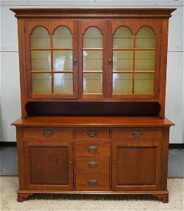 GIHON VALLEY FURNITURE COMPANY 2 PC CHERRY CUPBOARD