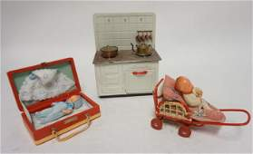 3 PC DOLL & TOY LOT