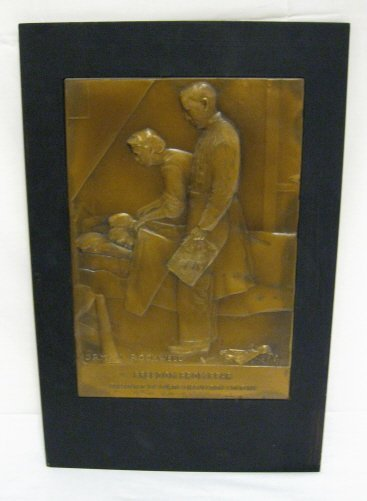 4: NORMAN ROCKWELL PLAQUE, *FREEDOM FROM FEAR*; CURTIS