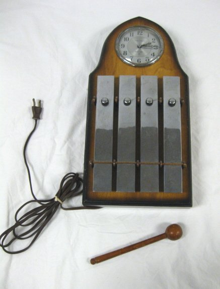 1001: WALTHAM ELECTRIC XYLOPHONE CLOCK; 15 1/2 IN H, 7