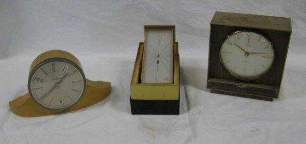 1020: LOT OF 3 MODERN CLOCKS; HAMILTON, SETH THOMAS & H