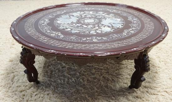 MOP INLAID  COFFEE TABLE WITH REMOVABLE LEGS