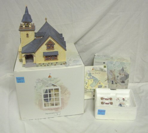 3001: DEPT 56; SEASONS BAY *CHAPEL ON HILL* & PERFECT W