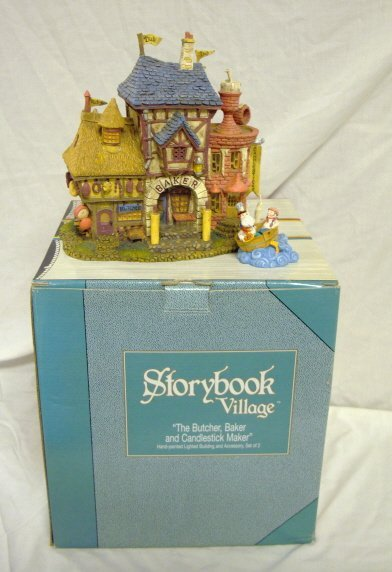 3007: DEPT 56; STOREY BOOK VILLAGE *BUTCHER, BAKER, CAN