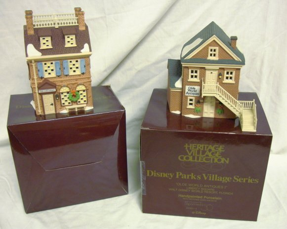 3010: DEPT 56; DISNEY *OLDE WORLD ANTIQUE SHOPS I & II*