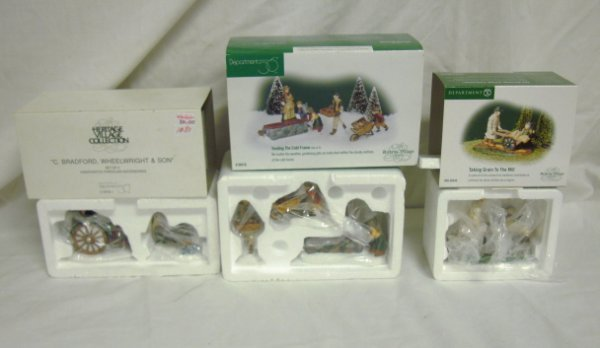 3014: DEPT 56; 3 DICKENS ACCESSORIES; BRADFORD WHEELWRI
