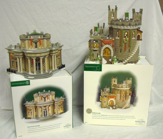 3016: DEPT 56; DICKENS VILLAGE, ROYAL STOCK EXCHANGE &
