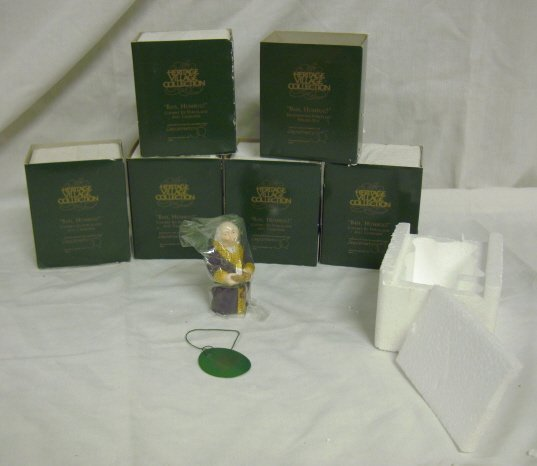 3019: DEPT 56; 6 PCS *BAH HUMBUG* HINGED BOXES