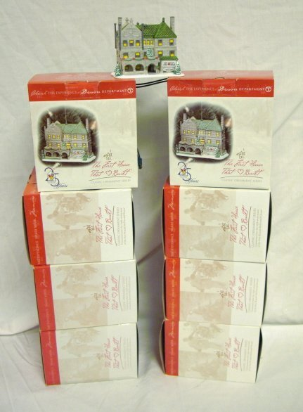 3020: DEPT 56; 8 PCS * FIRST HOUR THAT LOVE BUILT* LIGH
