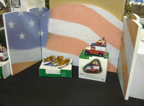 3021: DEPT 56; 3 VILLAGE ACCESSORIES; *AMERICAN PRIDE B