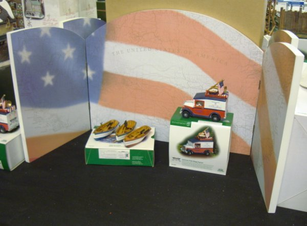 3022: DEPT 56; 3 VILLAGE ACCESSORIES; *AMERICAN PRIDE B